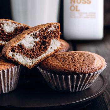 Muffins mit Speiseöl gebacken.