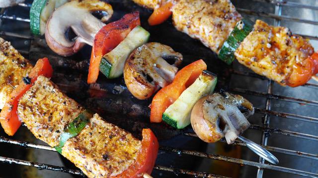 Grillspieße mit Gemüse