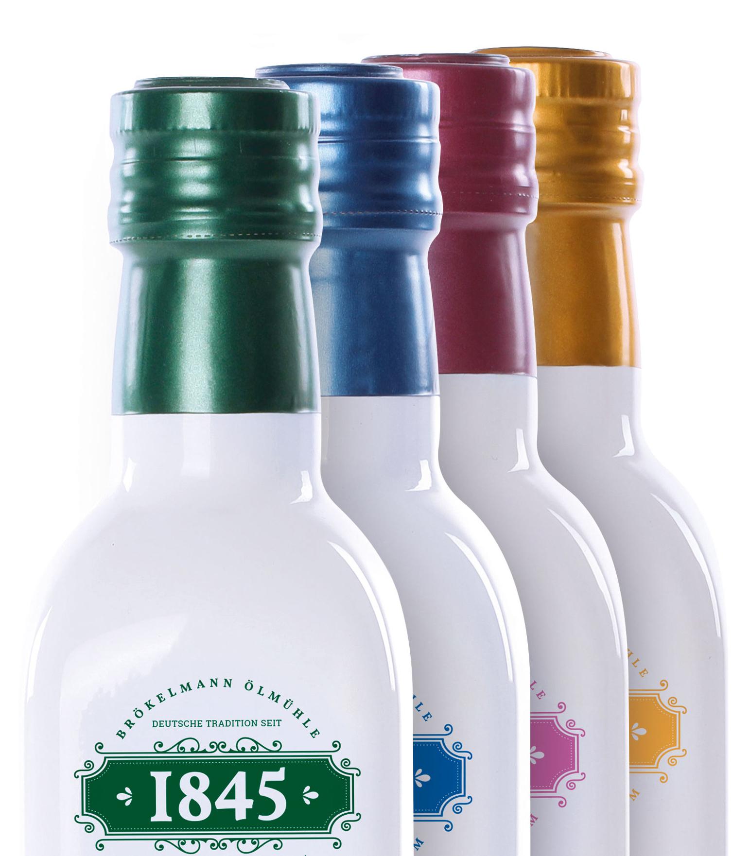 1845 Speiseöle aus Hamm Brökelmann Olmühle Rapskernöl Distel-Vitalöl Kokosrapsöl Walnussöl